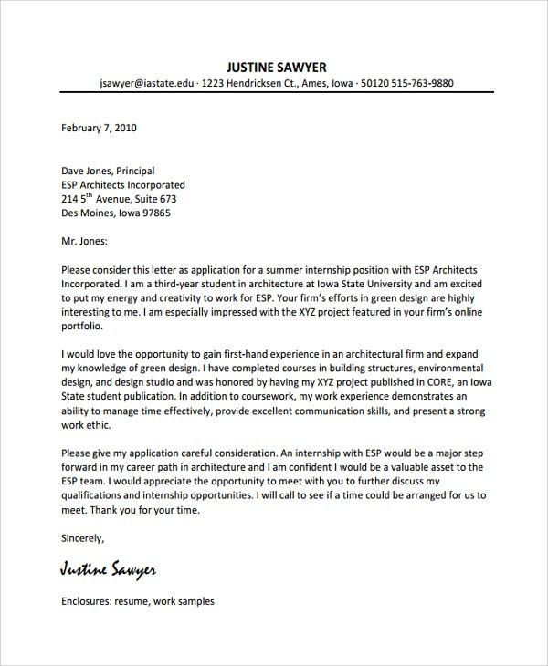 Sample Cover Letter Example Template - 29+ Free Documents Download ...