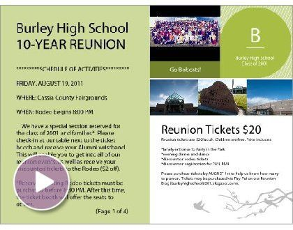 High School Reunion Invitations Template | Best Template Collection