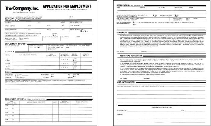 Sample Employment Application Form. Casual Academic Teaching ...