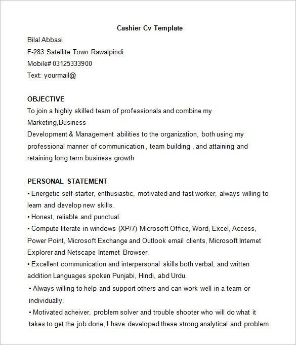 Unbelievable Design Cashier Resume Examples 9 Best Sales Example ...