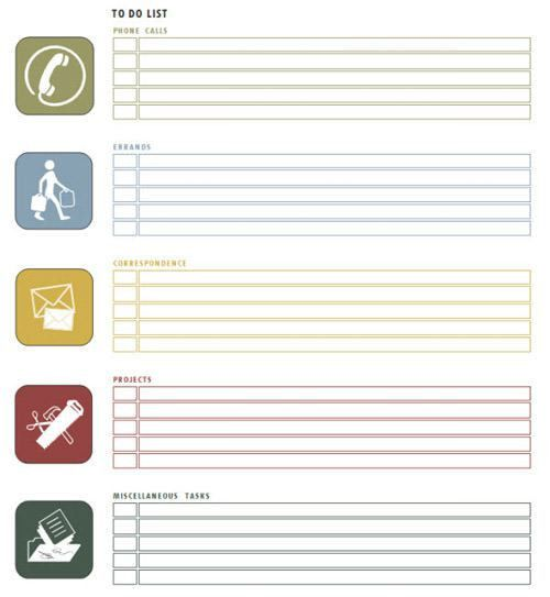 Weekly To Do List Template For Word | to do list template