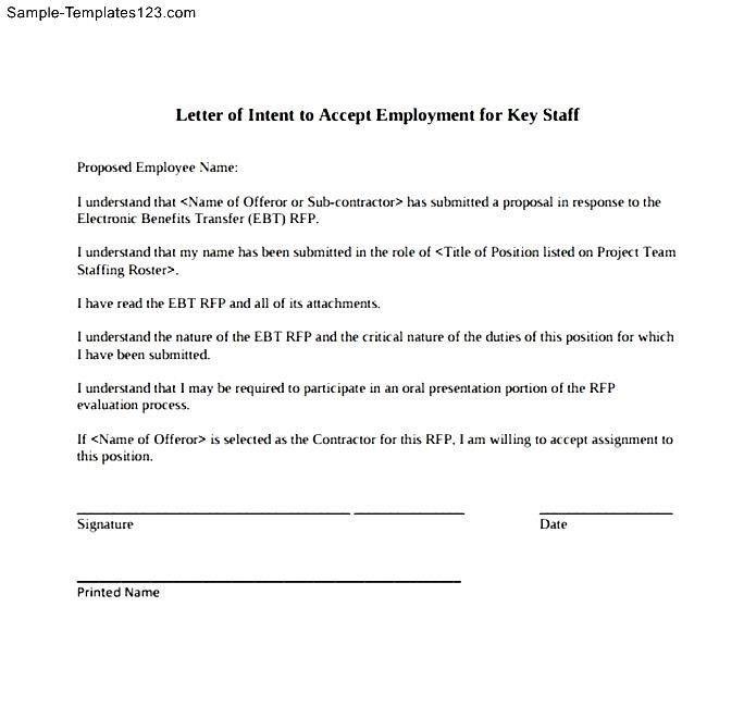 9 Simple Letter Of Intent Templates Free Sample Example Format ...
