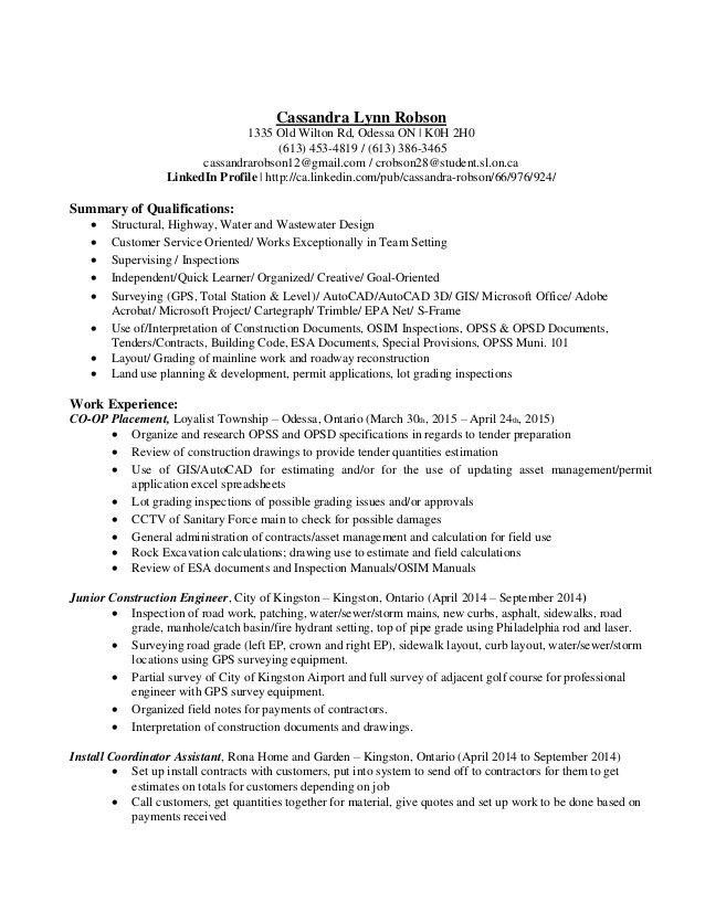 Cassandra Lynn Robson - Resume and Coverletter - Civil Engineering Te…