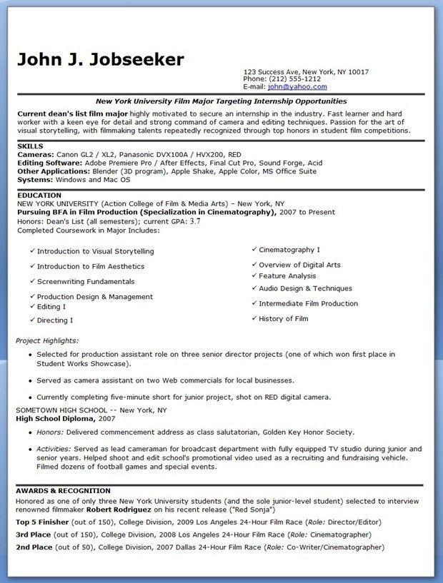 Resume For Internship. Dj Resume Gregs Dj Resume So Far 5 ...