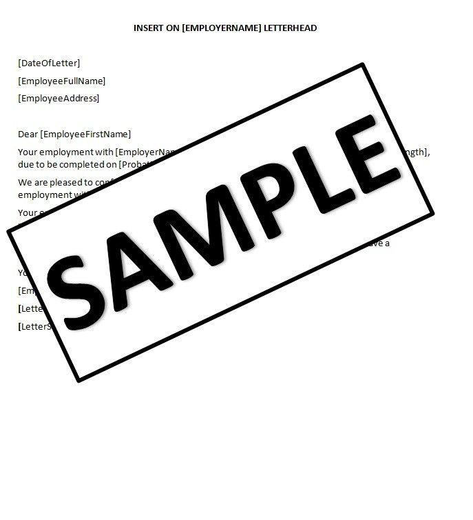 HR Advance | Completion of Probation Letter