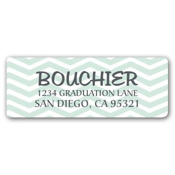 Chevron Graduation Return Address Labels | PaperStyle