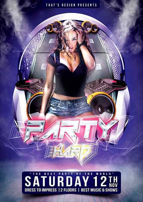 Free Party Flyer PSD Template - Download Club Party Free PSD Freebies