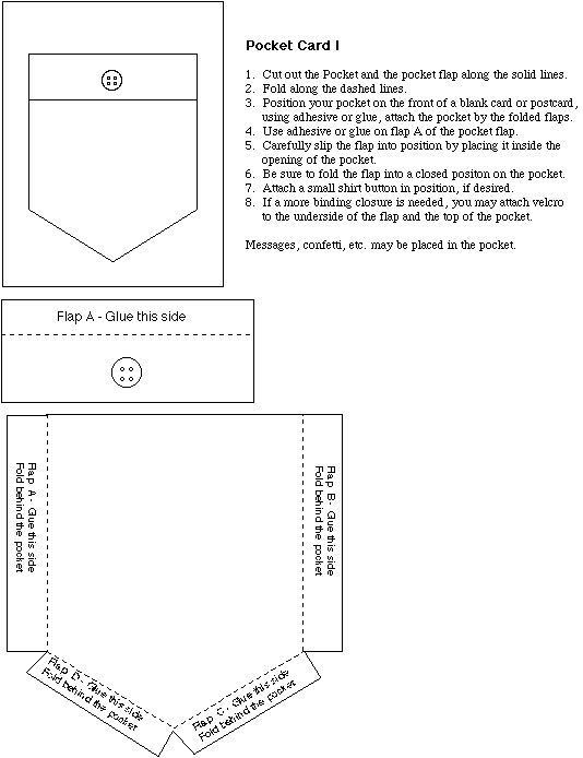 Paper shirt pocket | To SEW | Pinterest | Pocket cards, Card ...