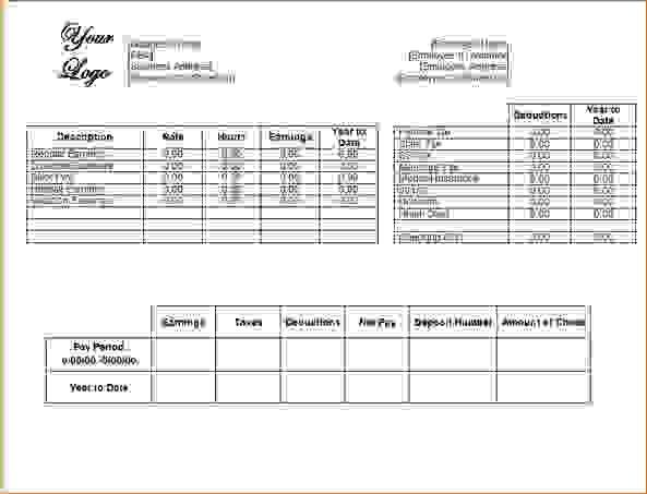 10 Printable Pay StubsAgenda Template Sample | Agenda Template Sample