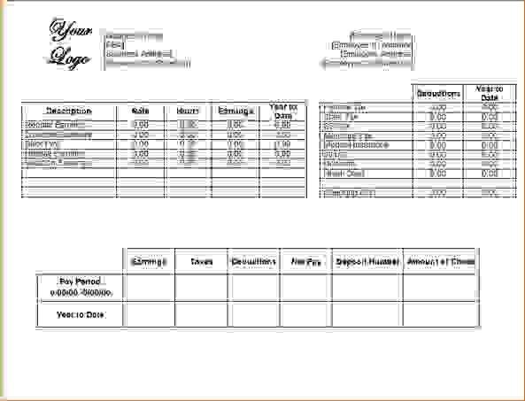 13 Blank Pay Stub TemplateAgenda Template Sample | Agenda Template ...