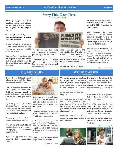 21 best Personal (General) Newspaper Templates images on Pinterest ...