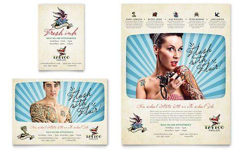 Tattoo Shop   Print Ad Templates   Retail & Sales