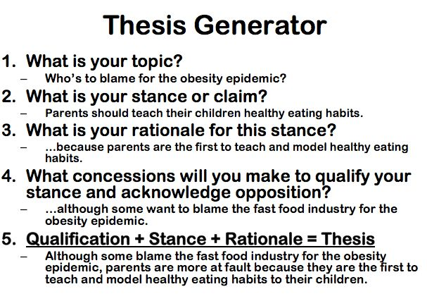 How to Write a Thesis Statement   AcademicHelp.net