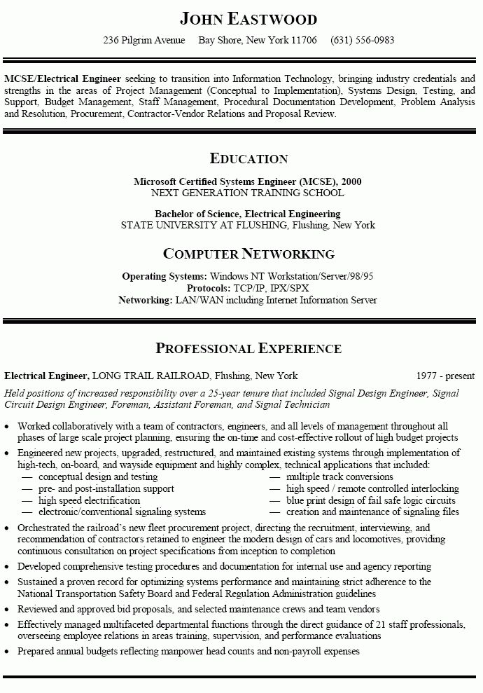 career change resume templates career transition or career change ...