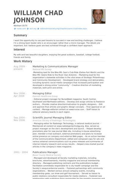central head corporate communication resume marketing