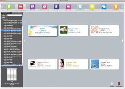 How to Find a Template in Avery DesignPro for Mac