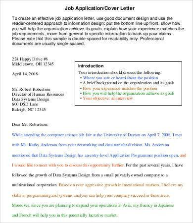 Job Application Letter - 5+ Free PDF, Word Documents Download ...