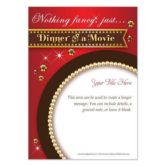 Dinner & Movie, Invitations & Cards on Pingg.com