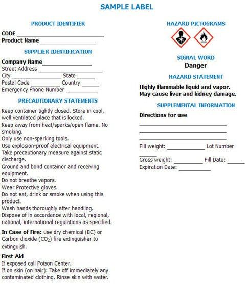 HazCom 2012: The GHS label requirements