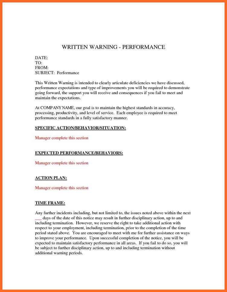 written warning template | soap format