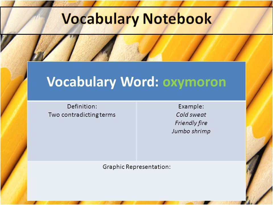 Vocabulary Notebook. - ppt download