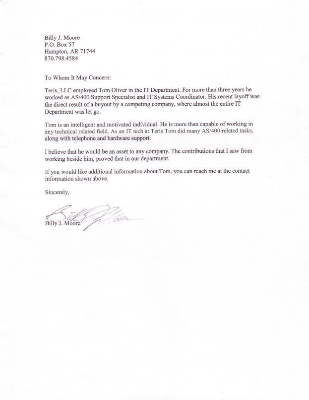 Business Reference Letter Template : Selimtd