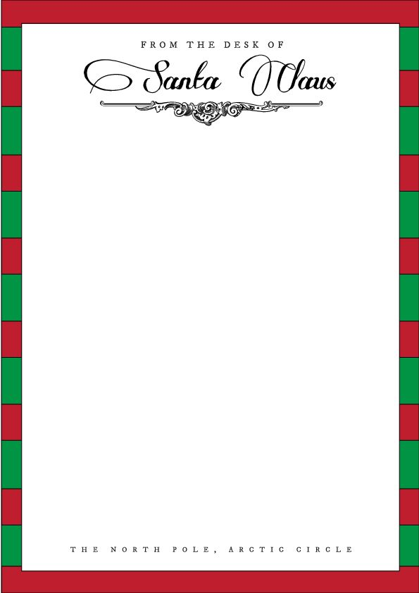 Letter From Santa Template | cyberuse