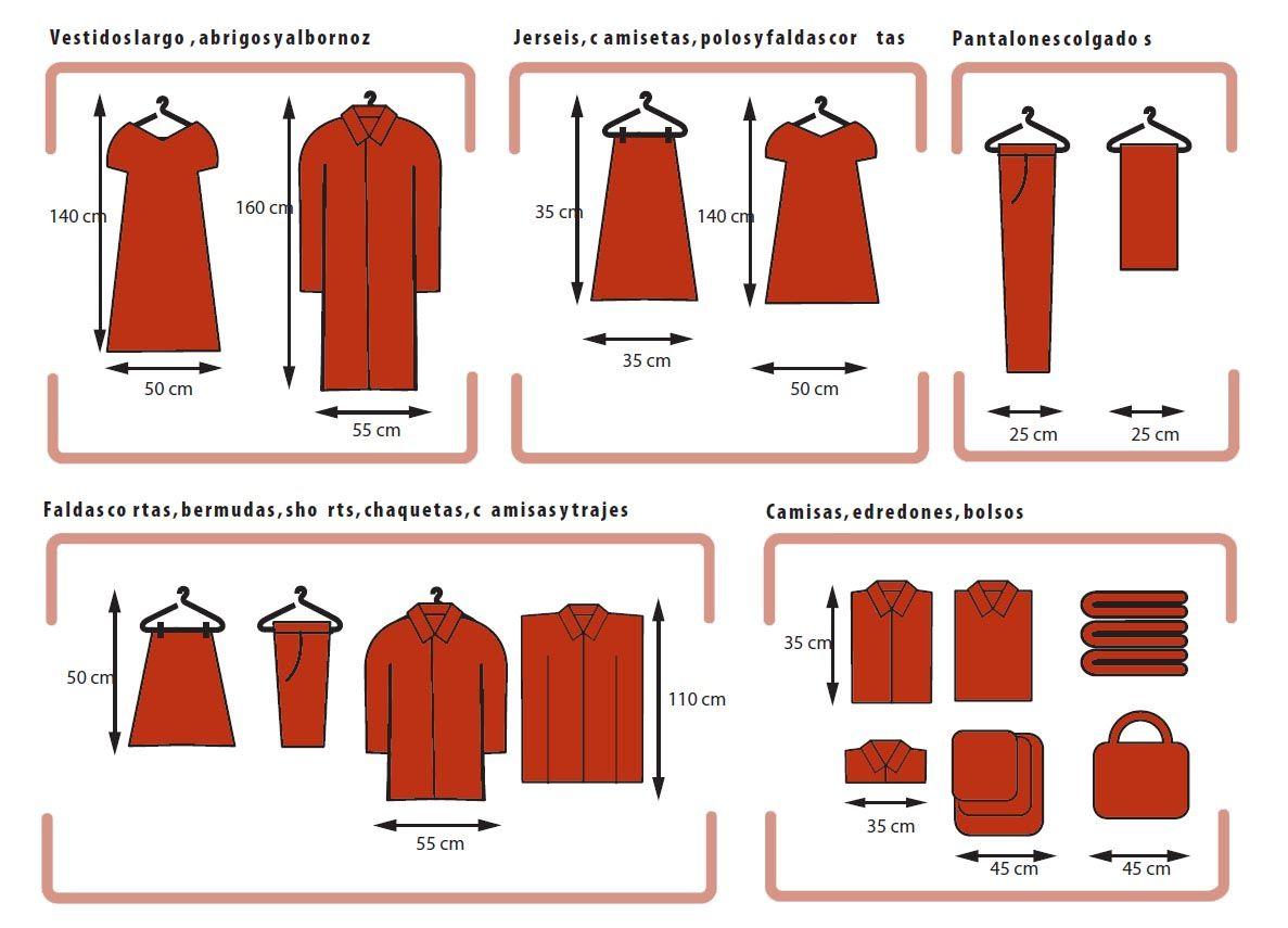 Medidas de la ropa para dise ar el armario for Programa para disenar armarios a medida