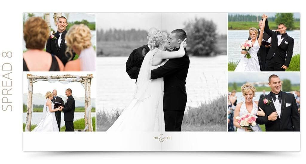 Wedding Album Photoshop Template | Modern | The Album Cafe