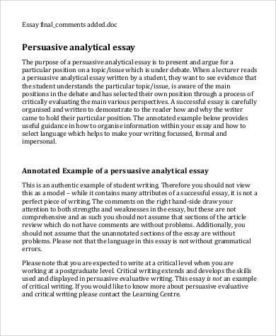 example of a analysis essay