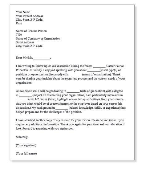 cover letter job fair sample thank you letter for a job