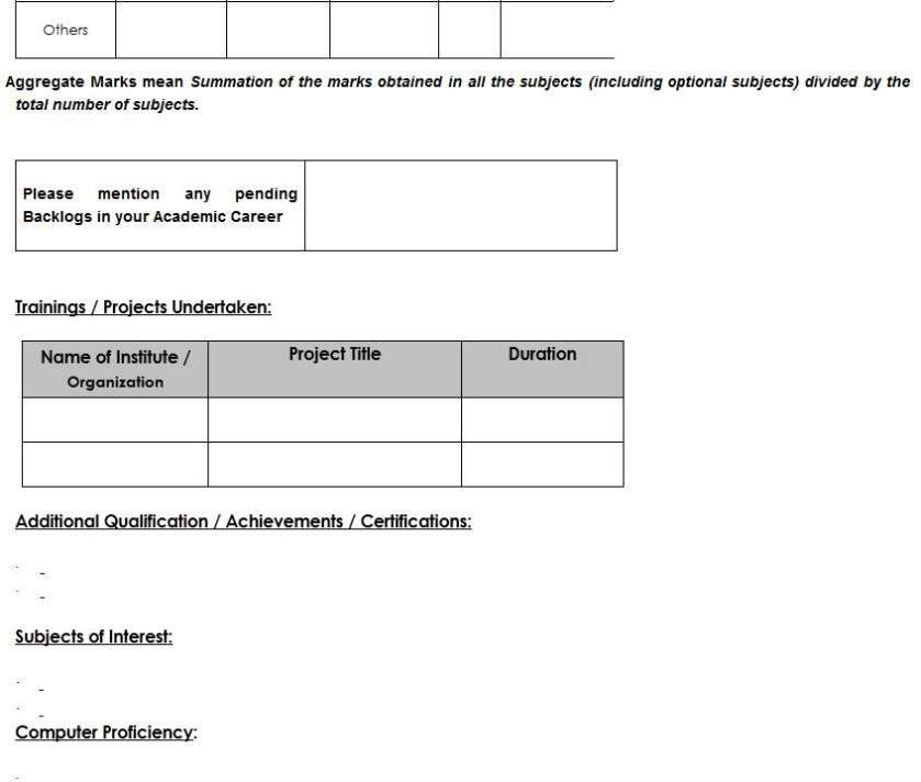 standard resume format for tcs. 7 resume format indian style ...
