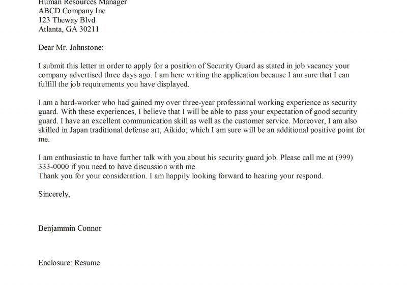 Extravagant Security Guard Cover Letter 9 Dod Manuscript Editor ...