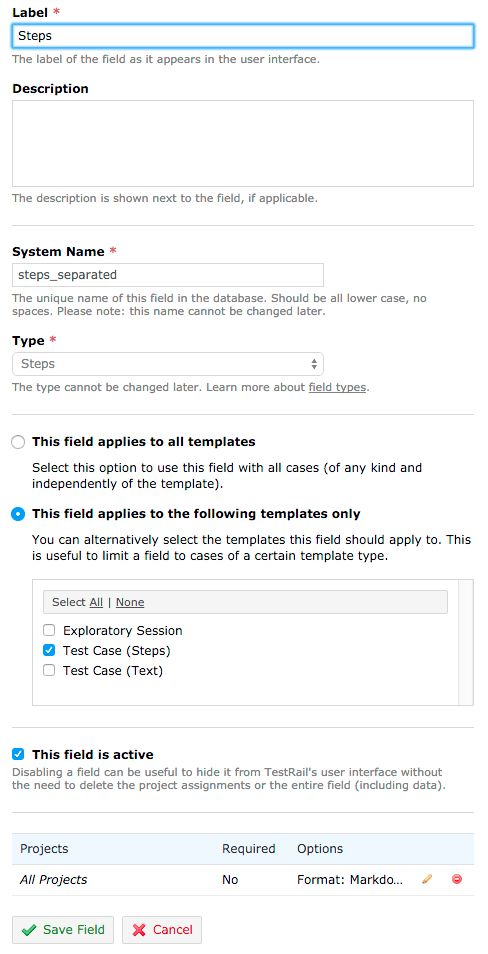 How to use custom Test Case Templates? - TestRail Customizations ...