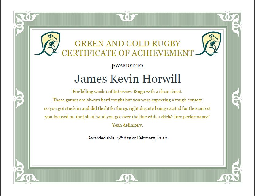 The G&GR Social Pages - Week 2 - Green and Gold Rugby