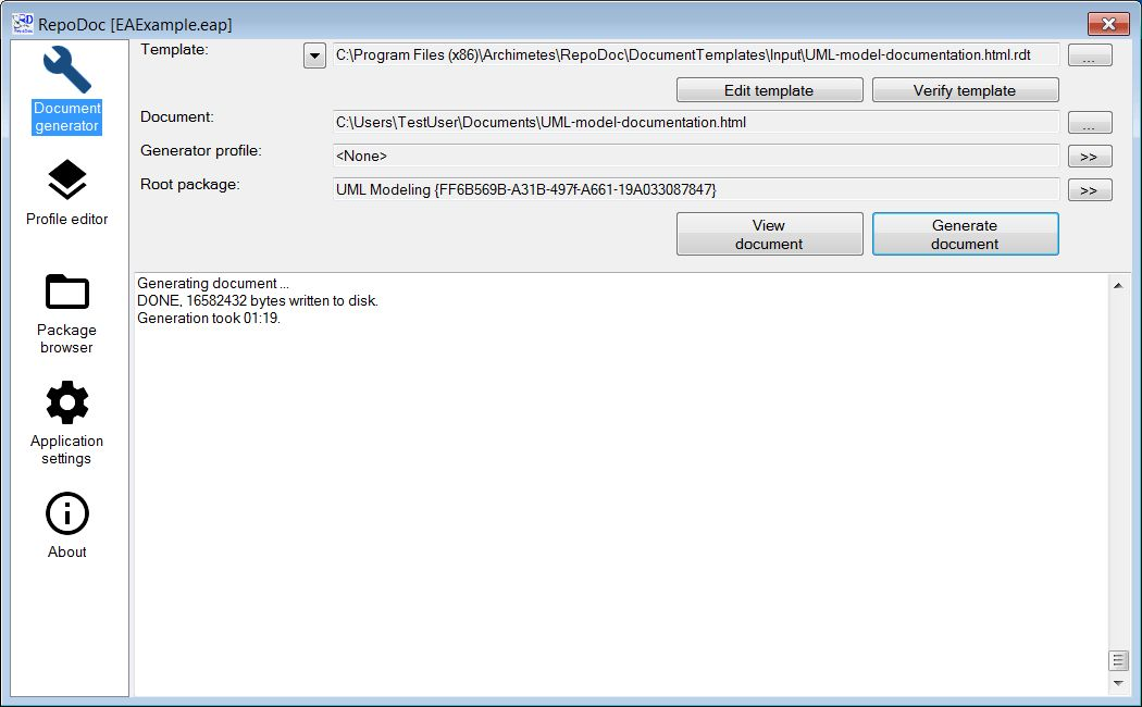 RepoDoc User Guide | Archimetes