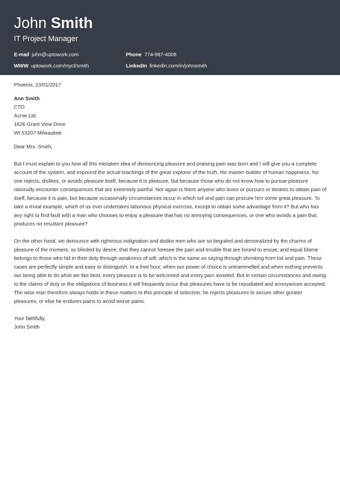 20 Cover Letter Templates [Download] Create Your Cover Letter in 5 ...
