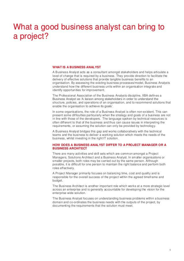 Whitepaper - Effective Business Analysis
