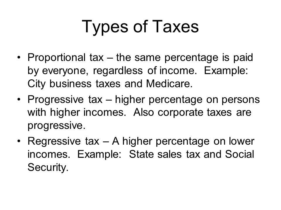 Federal Govt. Collects Different Taxes Chap. 15. Two Principles of ...