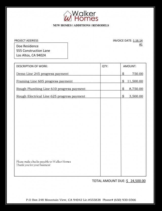 Posted in Invoice Template construction invoice template pdf ...