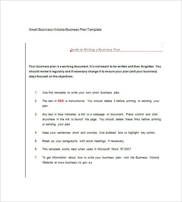Microsoft Business Plan Template – 7+ Free Word, Excel, PDF Format ...