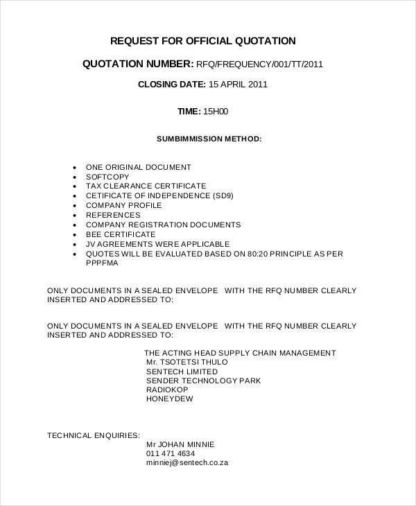 30+ Quotation Templates - Free Sample, Example, Format | Free ...
