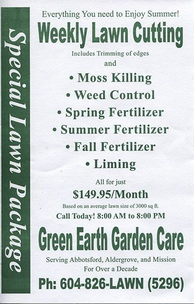 Green Earth Garden Care, Lawn care in Abbotsford and Mission BC ...