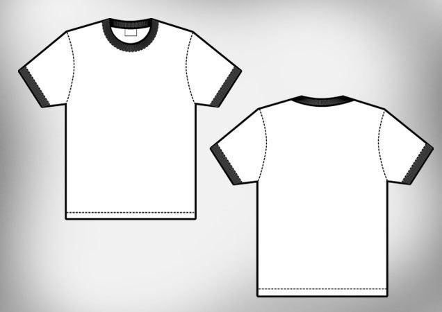 Ringer Men's T-shirt Template | Free Download T Shirt Template