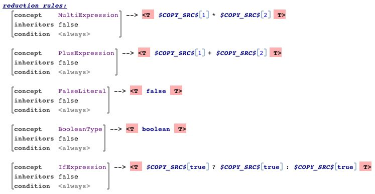 A number of reduction rules that map the reusable expression ...