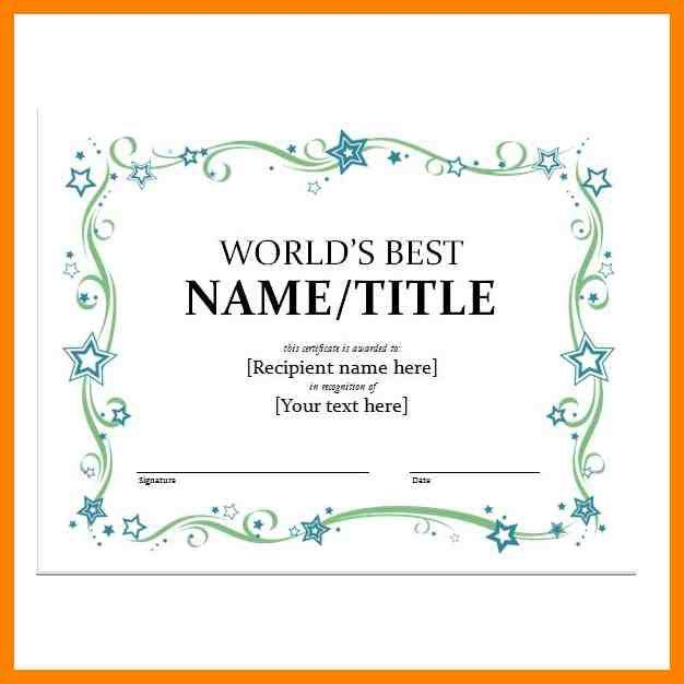 7+ word templates for certificates | day care receipts