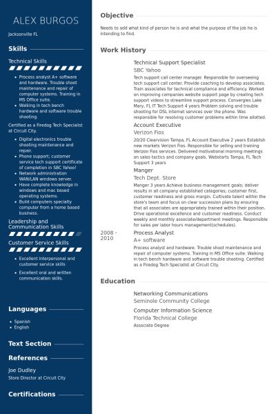 Technical Support Specialist Resume samples - VisualCV resume ...