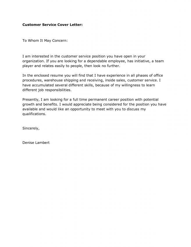 9 Cover Letter For Call Center Customer Service Representative ...