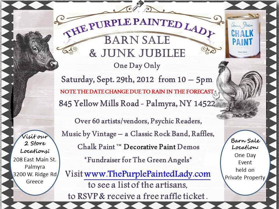 Barn Sale | The Purple Painted Lady