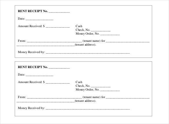 Receipt Form. Free Receipt Template | Rent Receipt And Cash ...